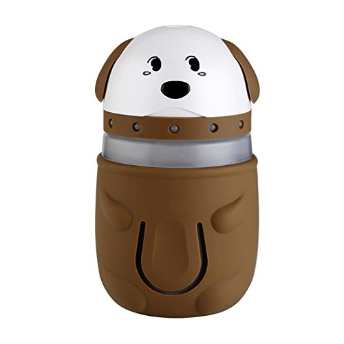 Cool Mist Humidifier, Inkach Cute Dogs Shaped LED Lamp Humidifier Lighting Air Diffuser Purifier Atomizer -