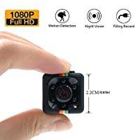 1080P Mini Spy Cam Hidden Camera LXMIMI Portable HD Nanny Web Cam with Night Vision and Motion Detection for Home/Office Indoor/Outdoor Security Surveillance Camera