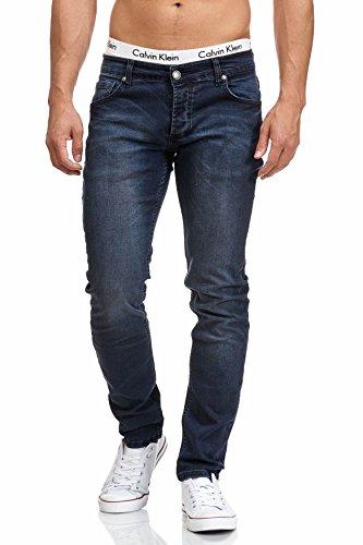 MADDU Herren Jeans Hose Freizeit Clubwear Slim Fit Jeans Blau 1012