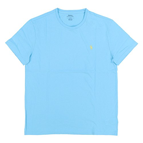 Polo Ralph Lauren Men Classic Fit Pony Logo T-Shirt (XXL, Light Blue/Yellow - Xxl Tshirts Lauren Ralph