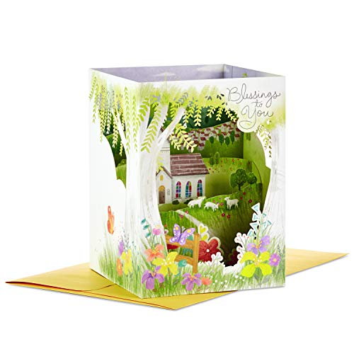 Hallmark Paper Wonder Displayable Pop Up Easter Card (Blessings to You -