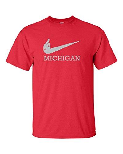 Local Imprint Men's F Swoosh Michigan T-Shirt M RED (Mens Swoosh T-shirt)