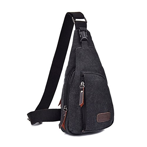 For Sports Canvas Shoulder Backpack Chest Outdoor coffee Sling Crossbody Casual Black Men Unbalance Butterme Bag Pqt5vU