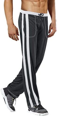 MAGNIVIT Men's Lightweight Athletic Pants Mesh Sweatpants Open Bottom with Pockets