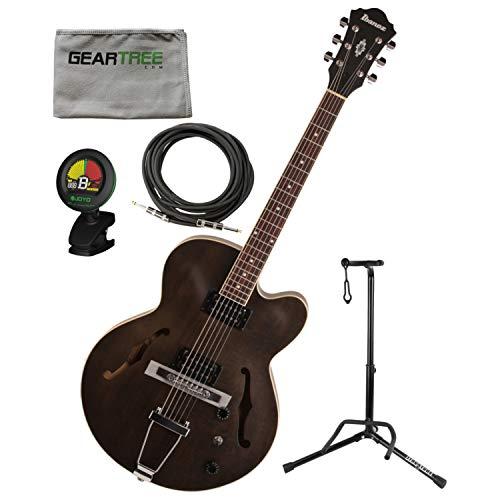Ibanez AF55TKF AF Artcore Hollowbody Electric Guitar Transparent Black Flat w/S ()