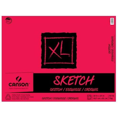 Canson XL Sketch Tape Bound Pad 50 lb - 18