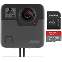 GoPro Fusion with (2) SanDisk Imaging Ultra microSDXC 64GB UHS Class 10 Card with Adapter Bundle