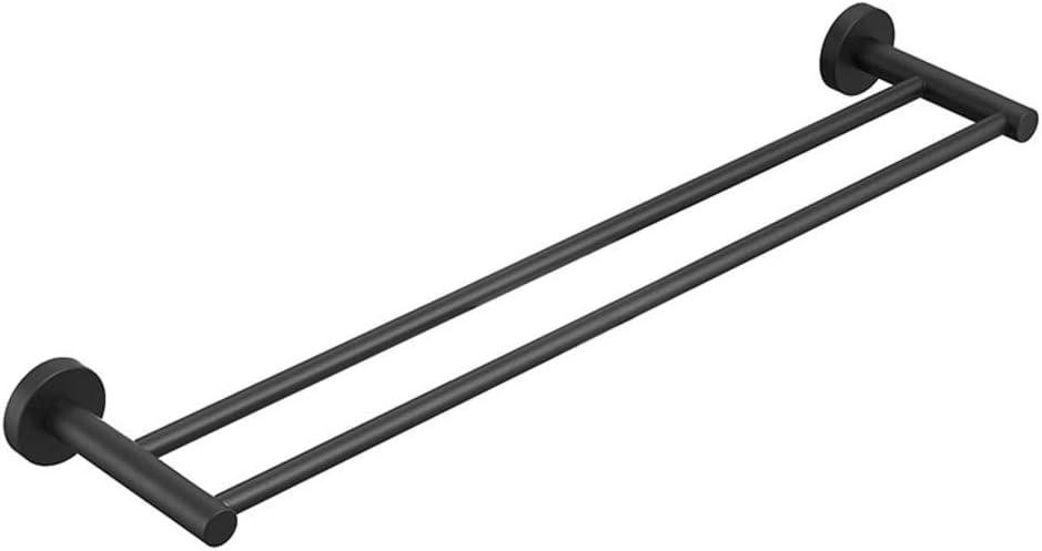 Accesorios de ba/ño de Acero Inoxidable Toallero Toallero Inoxidable Almacenamiento Negro mate-40cm NMBC Toallero Doble Estilo Moderno