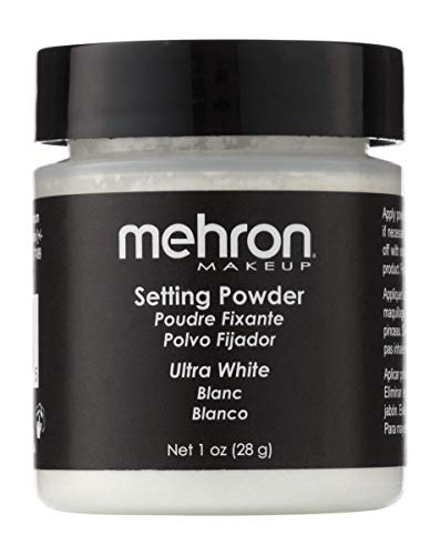 Mehron Makeup Setting Powder (1 oz) (Ultra White) -