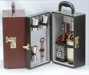 Trav-L-Bar Vinyl 2-Bottle Travel Bar