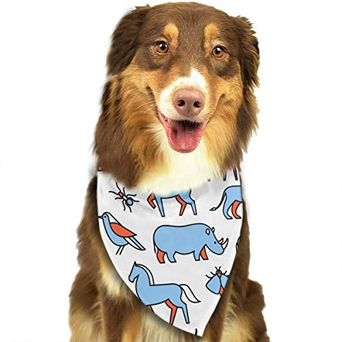 TNIJWMG Popular Wild Life Animals Bandana Triangle Bibs Scarfs Accessories for Pet Cats and Puppies -