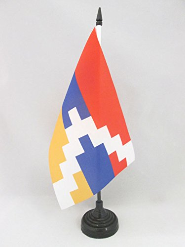 AZ FLAG TISCHFLAGGE BERGKARABACH 21x14cm GHARABAGH TISCHFAHNE 14 x 21 cm flaggen