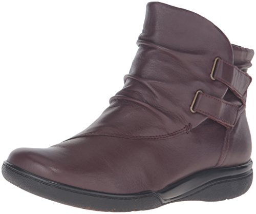 Clarks Women's Kearns Garden Boot, Oxblood Leather, 7 M US