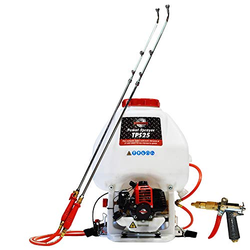 - 6.6 Gallon Gas Power Backpack Pesticide/Fertilizer Sprayer for Mosquitoes and Ticks with Foundation Gun Attachment ...