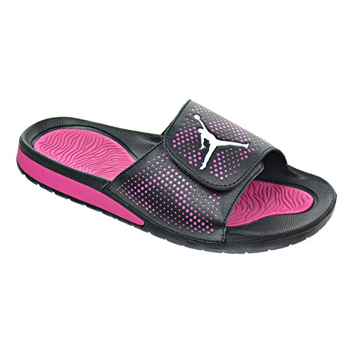 pink and black slides jordan - 4