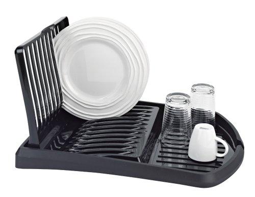Folding Dish Rack Drain Board, Black