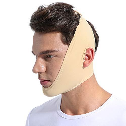 Face-Lift Bandage, V Face Belt Face Slimming Mask V Face Line Belt Cheek Slim Anti Wrinkle Mask Slimming Bandages Breathable men and women,Flesh,L