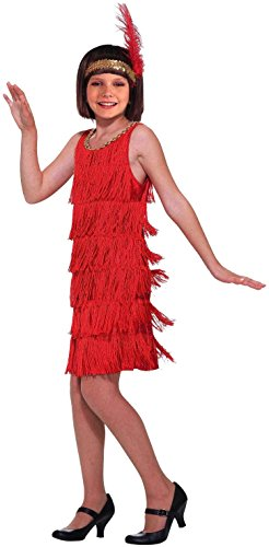 Forum Novelties Red Flapper Child Costume, Small (Red Fringe Flapper Costume)