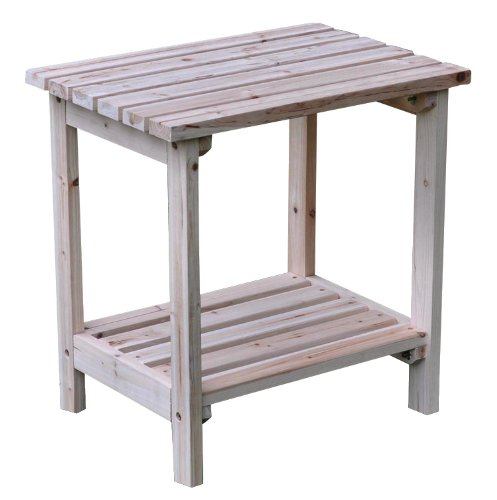 Shine Company Rectangular Patio Side Table, Small, Natural