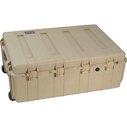 Pelican 1730NF Transport Case w/Lid & No Foam, Desert Tan 1730-001-190 ()