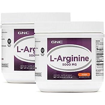 Amazon.com: GNC L-Arginine 5000mg - Orange, Twin Pack, 30