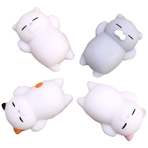 Cheap AIVIAI Stress Relief Toy Squishy Slow Rising Toys Mini Cute Kitty Buns 4Pcs