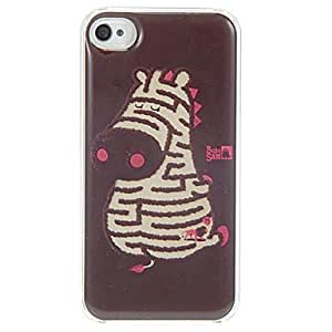 TY-Patrón Laberinto Cebra dura del caso de epoxy para el iPhone 4/4S