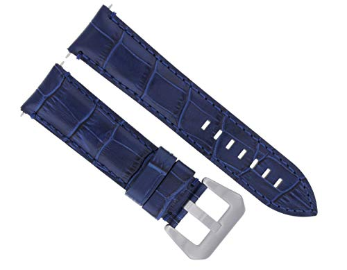24MM Leather Watch Band Strap for BREITLING Bentley Motor T Speed A25365 Blue #9