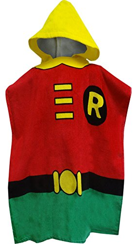 Batman's Robin Bath Towel Pool/Beach Hooded Poncho Robe for boys