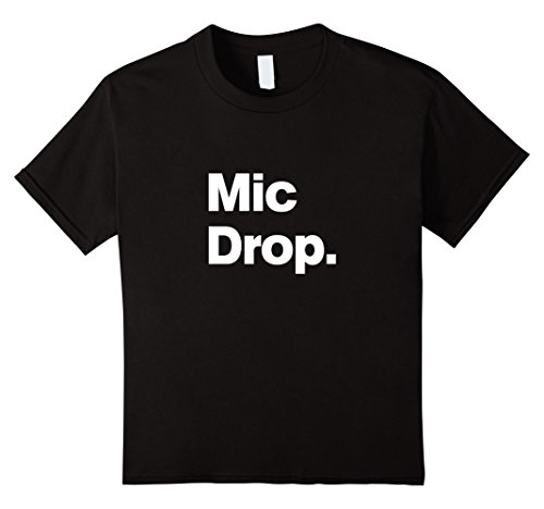 Price comparison product image unisex-child Mic Drop - The Funny Original Matching Family Birthday Shirt 6 Black