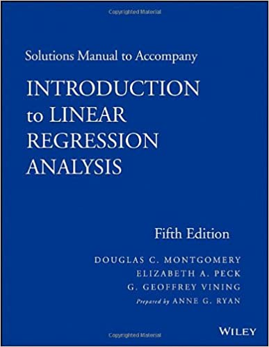 Amazon solutions manual to accompany introduction to linear amazon solutions manual to accompany introduction to linear regression analysis 9781118471463 douglas c montgomery elizabeth a peck fandeluxe Choice Image