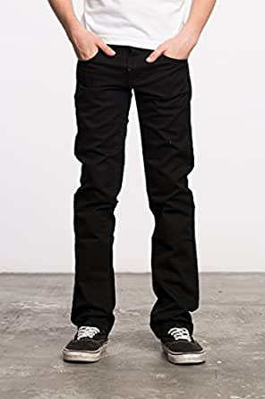 RVCA Big Boys' Daggers Twill Jean, Black, 23