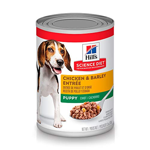 (Hill's Science Diet Wet Dog Food, Puppy, Chicken & Barley Recipe, 13 oz Cans, 12-pack)