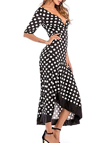 Out Sexy Party Back Full Unbalanced Maxi Deep Dress As Howme neck Women's Cut picture V xXXzqaR