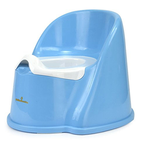 Blue Floor Potty Chair with Removable Bowl for Easy Cleaning