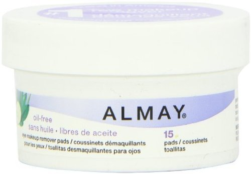 Almay - Oil Free Eye Makeup Remover - Travel Size (15 Pads) by Almay