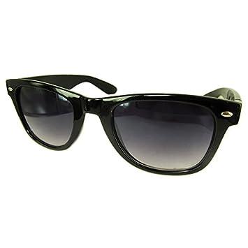 DP Design® Gafas de sol Wayfarer negras unisex, ahumadas ...