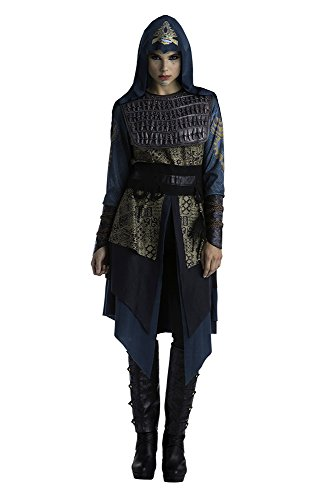 Palamon Women's Assassin's Creed Movie Maria Deluxe Costume, Grey, Large (Assassin Halloween Costumes)
