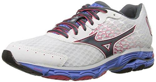 Mizuno Women's Wave Inspire 11 Running Shoe,White/Turbule...