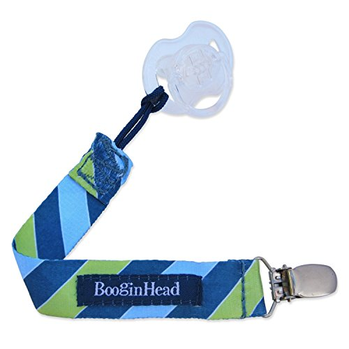 BooginHead PaciGrip Soothie & Pacifier Clip with Bonus Re-Usable Steam Sterilizer Bag for Pacifiers, LeapFrog