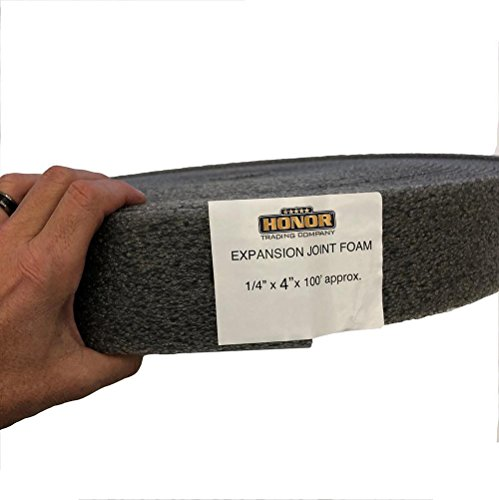 Honor Trading Construction Expansion Joint 1/4 inch wide by 4 inches tall - 100 foot (Flexible Expansion Joint)