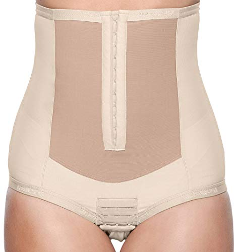Bellefit - Postpartum Belly Wrap | C-Section Recovery | Front Hook Closure Beige