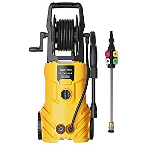 WestForce Electric Pressure Washer, 3000 PSI 1.85 GPM Power Washer, 1800 W High Power Cleaner with 5 Nozzles, Hose Reel…