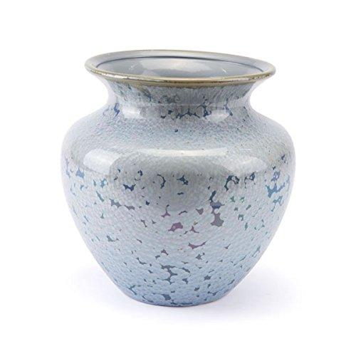HomeRoots Décor 295339-OT Crystal Blue Short Vase, Multicolor