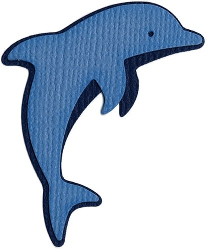 We R Memory Keepers KS-0161 2 by 2-Inch Dies, Jumping Dolphin (Bosskut Shapes)