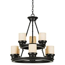 Trans Globe Lighting 3369 9 Light Up Lighting Chandelier from the Modern Meets T,
