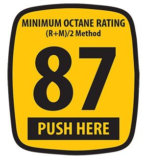 Decals (Pack of 5) - Ovation - 87 Octane Rating (2.75