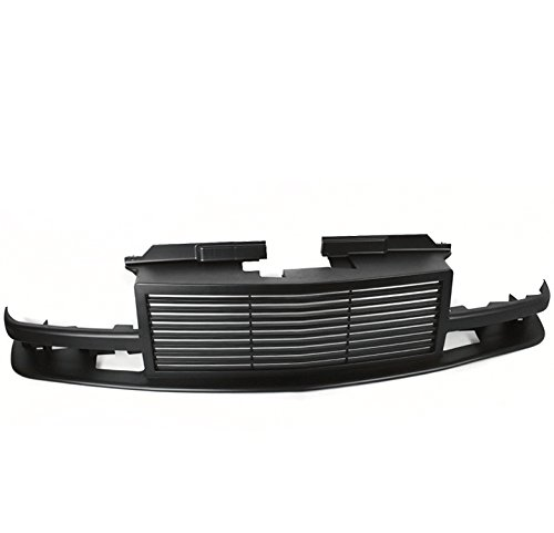 ZMAUTOPARTS Chevy S10 / 1998-2005 Blazer Horizontal Style Front Upper Hood Grille - Matte Black