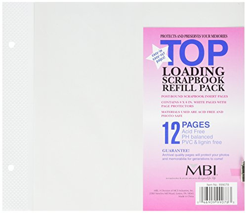 Page Protectors Mbi - MBI 8x8 Inch Page Protectors (6pk) Top-Loading (899078)