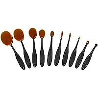Ranphykx 10-Pc.Oval Makeup Brush Set